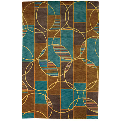 Capel Rugs Crystalle - Spheres 7 x 9 (Discontinued) AquaBrass 1618_ 410
