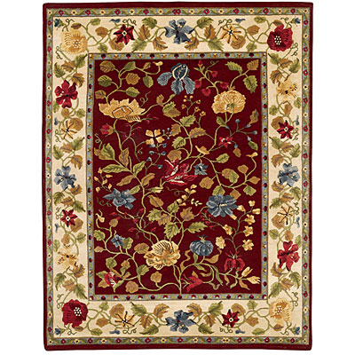 Capel Rugs Panama Orchids 2x3 Cranberry 1770_525