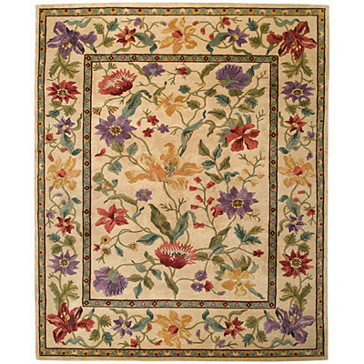 Capel Rugs Panama Orchids 8x9 Cream 1770_ 600