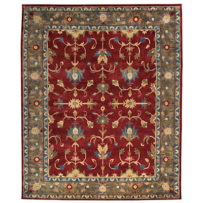 Capel Rugs Tibetan Treasures 2 x 3 Cranberry 1390_550