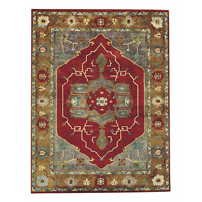 Capel Rugs Tibetan Treasures 4 x 5 RedGold 1390_570
