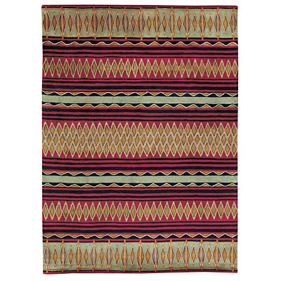 Capel Rugs Red Diamond 5 x 8 RedBlack 9232_530