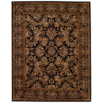 Capel Rugs Regal - Flora 5 x 8 BlackBrown 3367_350