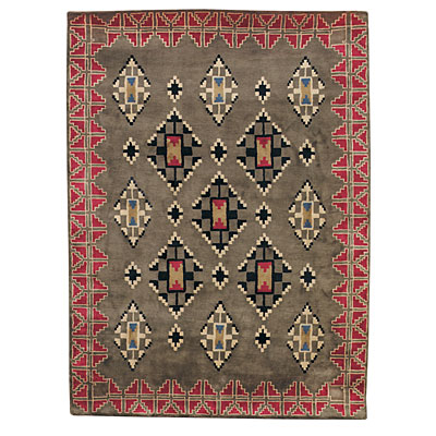 Capel Rugs Stairstep 5 x 8 SageRed 9231_250