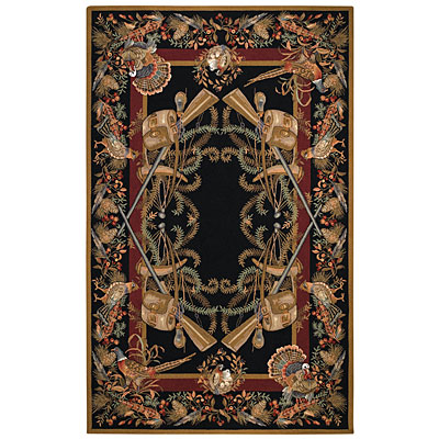 Capel Rugs Game birds 7 x 9 Black 6033_350