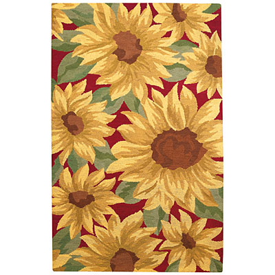 Capel Rugs Garden delights 5 x 8 Sunflowers 2215_150