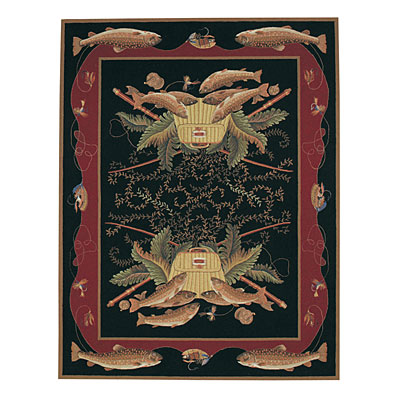 Capel Rugs Lake Champlain 7 x 9 Black 2198_300
