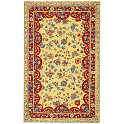 Capel Rugs Provencal 5x8 Gold Red 3075_150