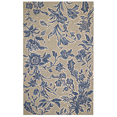 Capel Rugs Spring Flowers 5 x 8 Delft Blue 2106_425