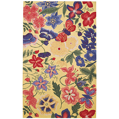 Capel Rugs Tropicale 3 x 5 Flowers 6027_100