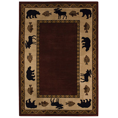 Capel Rugs Cabin Retreat 4x5 Merlot 2365_500