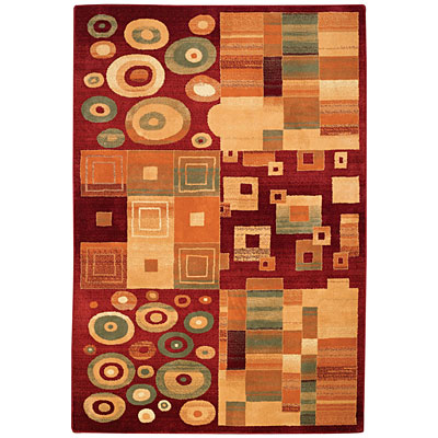 Capel Rugs Festivale - Kaleidescope 8 x 11 DarkRed 3405_575