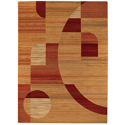 Capel Rugs Festivale - Orbit 5 x 8 Persimmon 3408_800