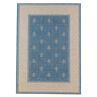 Capel Rugs Finesse - Bouquet 8 x 11 Bleu 4701_400
