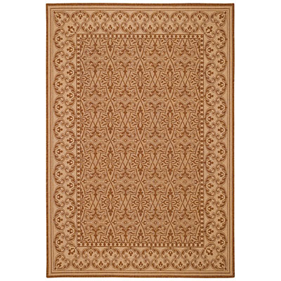 Capel Rugs Finesse - Filigree 5 x 8 CoffeeCream 4708_700