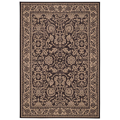 Capel Rugs Finesse - Peonies 5 x 8 BlackPearl 4709_350