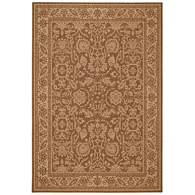 Capel Rugs Finesse - Peonies 3 x 5 CoffeeCream 4709_760