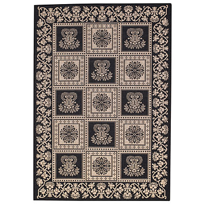 Capel Rugs Finesse - Stencil Square 3 x 5 Black 4704_350