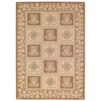 Capel Rugs Finesse - Stencil Square 5 x 8 Coffee 4704_700