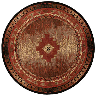Capel Rugs Fresh Air 10 ft round BrownMulti 2366_750