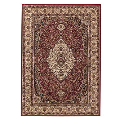 Capel Rugs Satin - Kashan 8 x 12 RedCream 3514_550