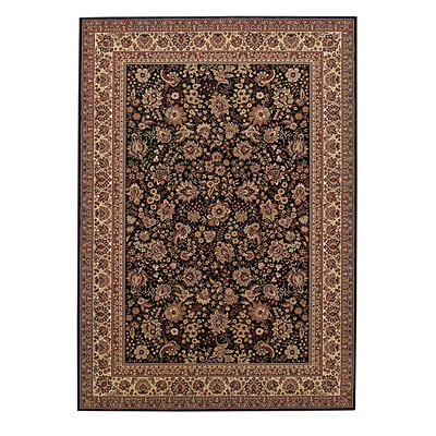 Capel Rugs Satin - Tabriz 8 x 10 BlackCream 3515_350