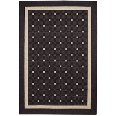 Capel Rugs Seabreeze - Checks 4 x 6 Charcoal 3547_300