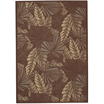 Capel Rugs Seabreeze - Palms 3 x 5 Chocolate 3561_700