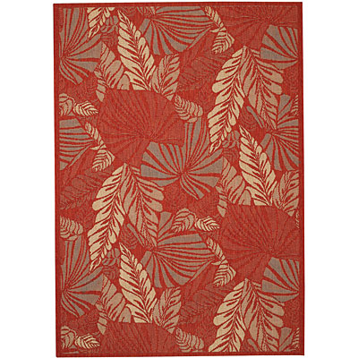 Capel Rugs Seabreeze - Palms 8 x 10 Redwood 3561_550
