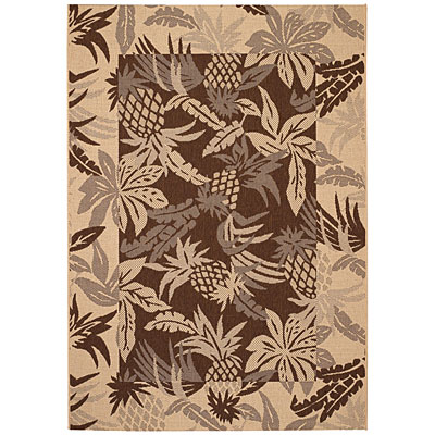 Capel Rugs Seabreeze - Pineapple 5 x 8 Chocolate 3560_700