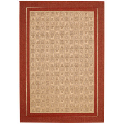 Capel Rugs Seabreeze - Tiles 8 x 11 WashedBrick 3548_500