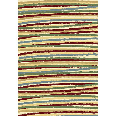 Central Oriental Inspirations - Fiesta Stripe 5 x 8 Fiesta Stripe Red 8705RD-69