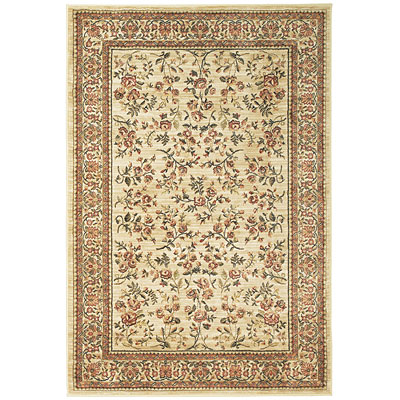 Central Oriental Platinum - Floral Spray 7 Oval Floral Sprays Linen 1005LN7V