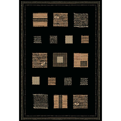Central Oriental Reflections - Quilt 8 x 11 Quilt BlackBeige 5627.81-70
