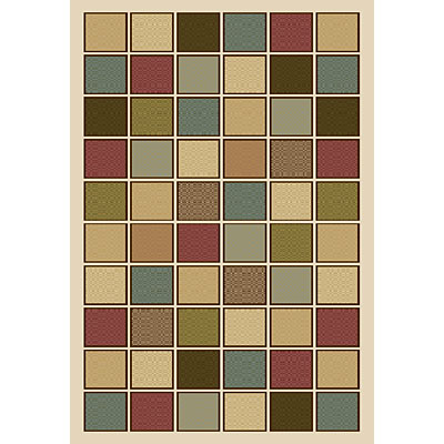 Central Oriental Generations - Tweed Blocks 3 x 5 (Discontinued) Tweed Blocks Multi 8509MI-46