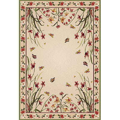 Central Oriental Canyon - Wildflowers 5 x 8 Wildflowers Beige 8010BG69
