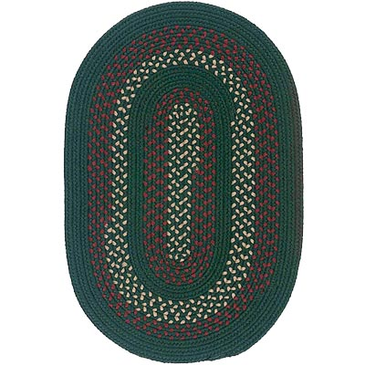 Colonial Mills, Inc. Deerfield 5 X 8 Oval Hunter Green DF61