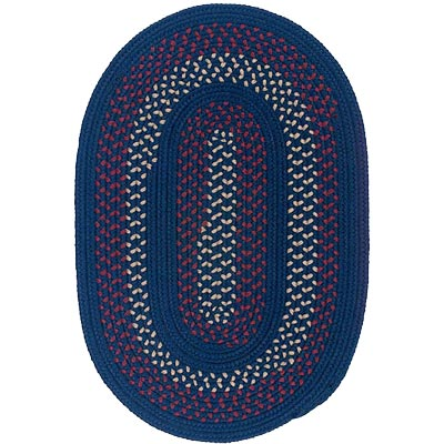 Colonial Mills, Inc. Deerfield 5 X 8 Oval Midnight Blue DF51