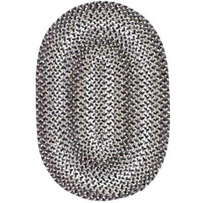 Colonial Mills, Inc. Lincoln 10 X 13 Oval Charcoal Multi L702