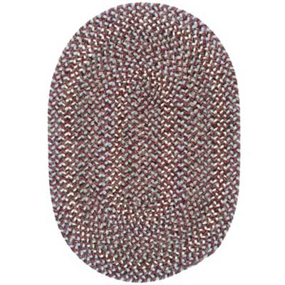 Colonial Mills, Inc. Lincoln 10 X 13 Oval Wine Multi L402