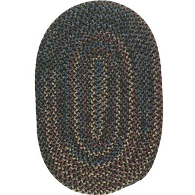 Colonial Mills, Inc. Midnight 12 X 15 Oval Carbon MN46