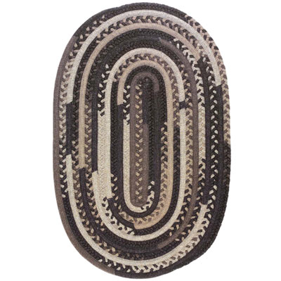 Colonial Mills, Inc. Timeless Retreat Oval 7 x 7 Bark TR80