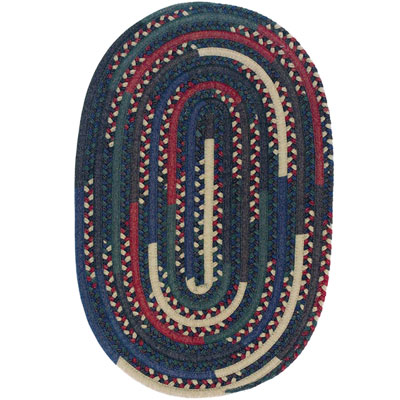 Colonial Mills, Inc. Timeless Retreat Oval 3 x 3 Multi TR40