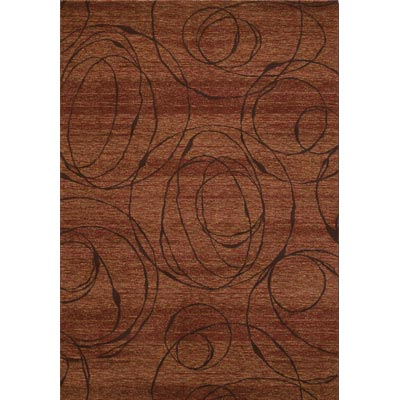 Couristan Ambassador 5 x 8 Radial Burnished Rust 9340/0003