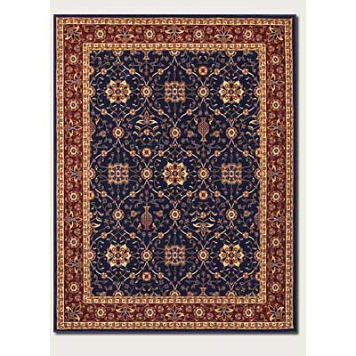 Couristan Anatolia 10 x 13 All Over Vase Navy Red 2869/0008