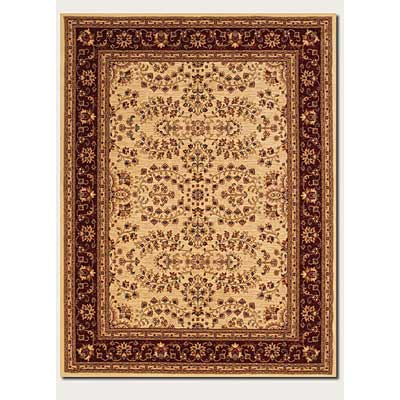 Couristan Anatolia 8 x 11 Antique Herati Cream Red 2867/0007