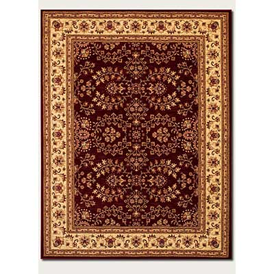 Couristan Anatolia 10 x 13 Antique Herati Red Cream 2867/0006