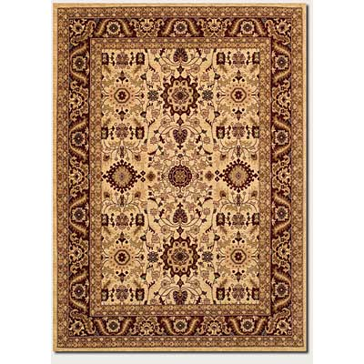 Couristan Anatolia 8 x 11 Antique Kashan Cream Red 2067/0009