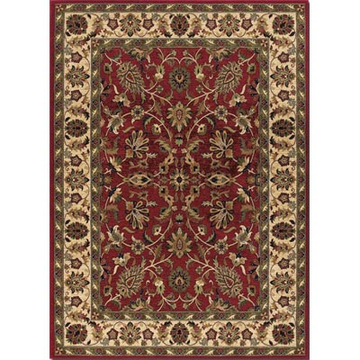 Couristan Anatolia 8 x 11 Floral Ispaghan Red Cream 2056/0010