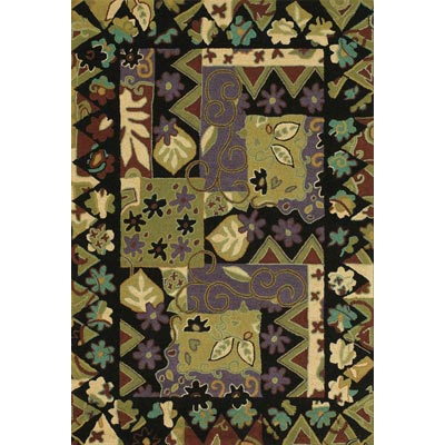 Couristan Applique 8 x 11 Aster Garden Multi 6074/0007
